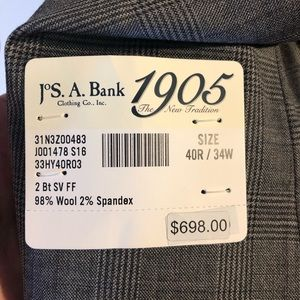 Jos. A. Bank Suits & Blazers - Jos A Bank 1905 Collection Tailored Fit Plaid Suit